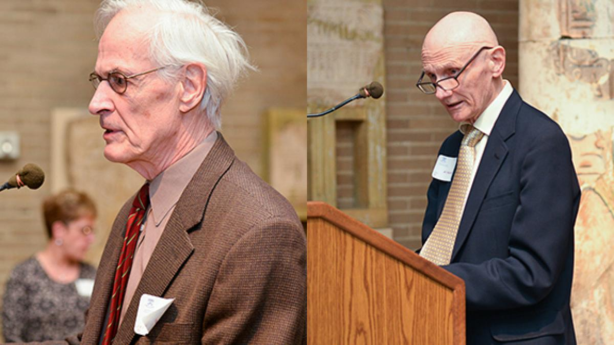Professors Jere Behrman (left) and Alan Heston (right) paid tribute to their colleague Robert Summers, who passed away last year. A dissertation fellowship has been established to honor him.