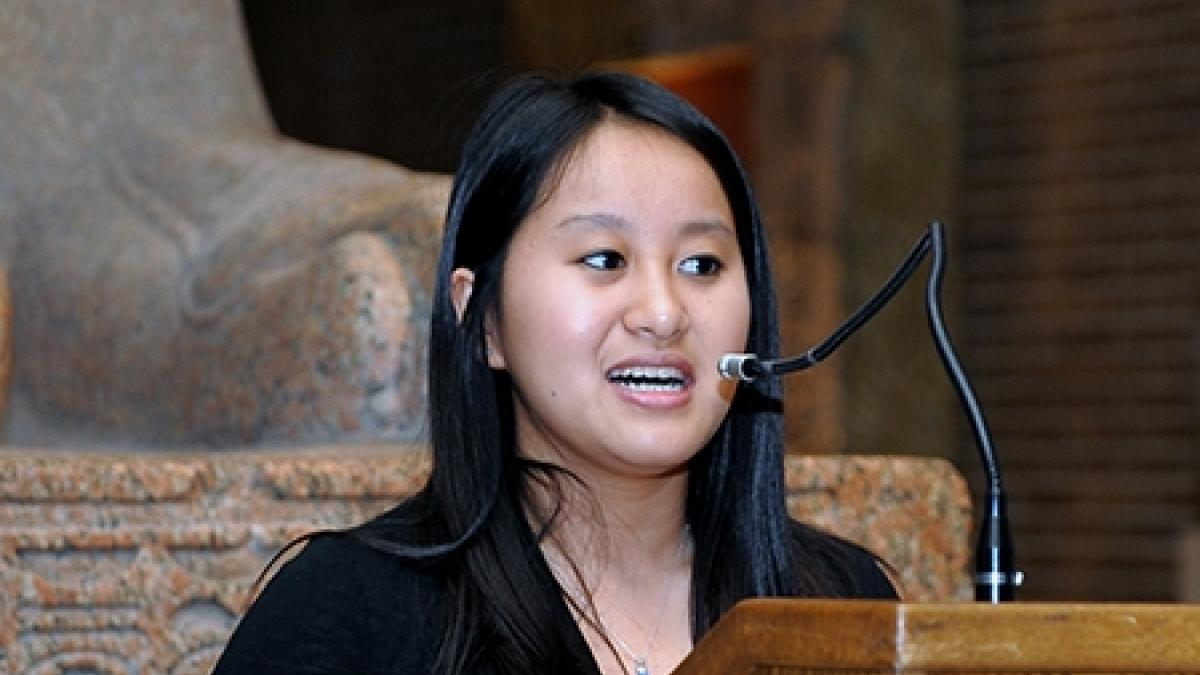 Kathy Qian won the Lawrence R. Klein Prize for Outstanding Research by an Undergraduate.