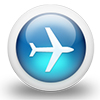 icon of airplane for travel
